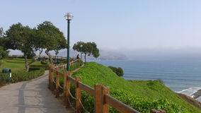 Mening aan het zuiden van Lima baai van Miraflores-district royalty-vrije stock foto's