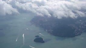 Mening aan Hong Kong Ochtend stock video
