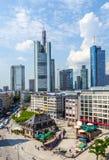 Mening aan horizon van Frankfurt Royalty-vrije Stock Foto's