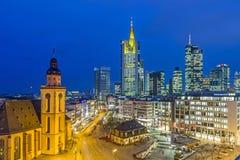 Mening aan horizon van Frankfurt met Hauptwache Royalty-vrije Stock Afbeelding