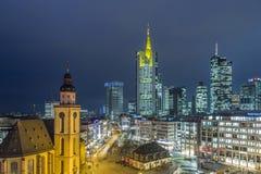 Mening aan horizon van Frankfurt met Hauptwache royalty-vrije stock afbeeldingen