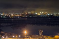 Mening aan Magnitogorsk-staalfabrieken stock afbeelding