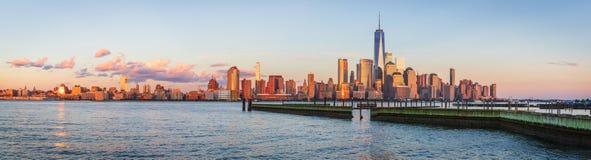 Mening aan Manhattan van New Jersey stock afbeeldingen