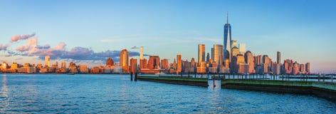 Mening aan Manhattan van New Jersey royalty-vrije stock foto's