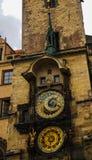 Mening aan Orloy-Klok, Praag, Tsjechische Republiek stock fotografie