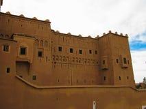 Mening aan oude de stadsaka van Ouarzazate kasbah, Marokko stock afbeelding