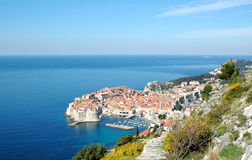 Mening aan oude stad Dubrovnik, Kroatië Stock Afbeelding