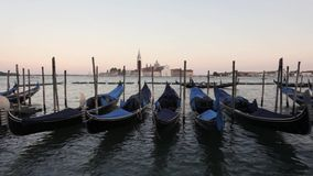 Mening aan San Giorgio Maggiore Venetië, Gondels Venetië, Italië stock video