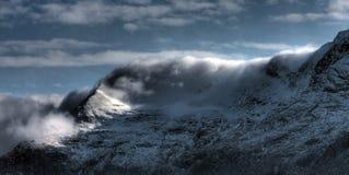 Mening aan Snowdon Stock Foto's