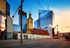 Mening aan Tallinn in recente avond in de zomer stock foto's