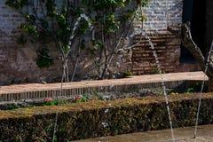 Mening als de Generalife-binnenplaats Patio DE La Acequia stock afbeeldingen