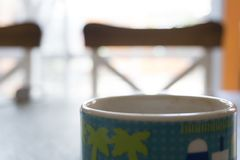 Mening av kaffet med mina kakor royaltyfria foton