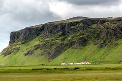 Mening bij berglandschap in IJsland Royalty-vrije Stock Foto's