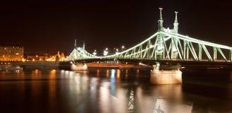 Mening bij brug in Boedapest, Hongarije Stock Afbeeldingen