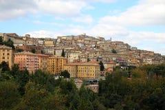 Mening bij de stad Perugia, Umbrië, Italië van de heuveltop Stock Fotografie