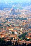 Mening bij Florence en haar kathedraal, Italië stock foto