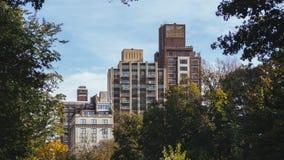 Mening bij gebouwen van Central Park royalty-vrije stock foto