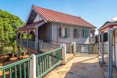 Mening bij het Mahandrihono-paleis in Ambohimanga stock foto's