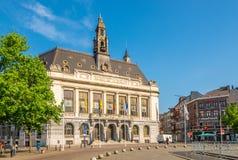 Mening bij het Stadhuis van Charleroi in België royalty-vrije stock foto