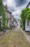 Mening bij kleine straat in Rogge, het UK Stock Fotografie