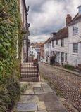 Mening bij kleine straat in Rogge, het UK Stock Afbeelding