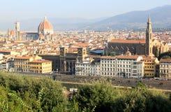 Mening bij monumenten van Florence, Italië Stock Foto