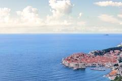 Mening bij Oude Stad, Dubrovnik Royalty-vrije Stock Foto's