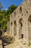 Mening bij ruïnes van oude stad Butrint in Albanië Royalty-vrije Stock Foto