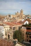 Mening bij Tarragona en kathedraal, Catalonië, Spanje royalty-vrije stock afbeeldingen