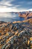 Mening boven groot mooi meer, het meer van Baikal, Rusland Royalty-vrije Stock Foto's