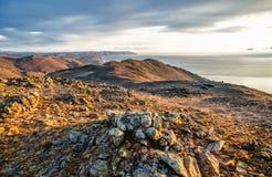 Mening boven groot mooi meer, het meer van Baikal, Rusland Stock Fotografie