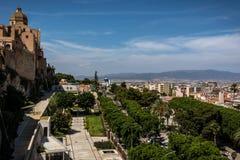 Mening in Cagliari, Sardinige van hierboven royalty-vrije stock foto