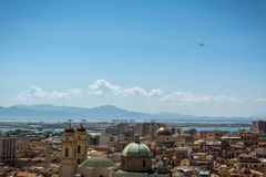 Mening in Cagliary, Sardinige van hierboven royalty-vrije stock fotografie