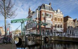Mening in Churchbridge over de rivier Oude Rijn royalty-vrije stock afbeeldingen