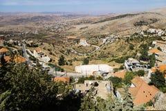 Mening in de vallei in Rachaiya, Beqaa-Vallei, Libanon Stock Foto's