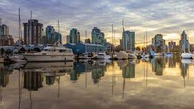 Mening de Van de binnenstad van Vancouver van Stanley Park stock fotografie