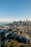 Mening de Van de binnenstad van San Francisco Transamerica royalty-vrije stock foto's
