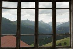 Mening door een venster Stock Fotografie