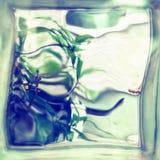 Mening door glasblok stock afbeelding