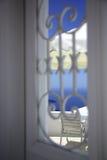 Mening door het venster Royalty-vrije Stock Foto