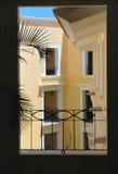 Mening door het venster in Cabo San Lucas, Mexico Stock Foto's