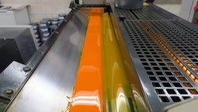Mening in dwarsdoorsnede over drukmachines stock afbeelding