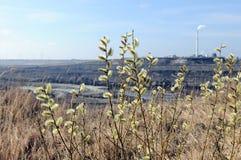 Mening in een kolenmijn royalty-vrije stock afbeelding
