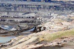Mening in een open kolenmijn Stock Foto