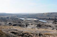 Mening in een open kolenmijn Royalty-vrije Stock Foto's
