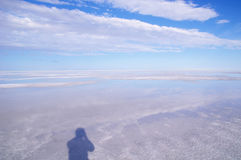 Mening in Great Salt Lake Stock Foto's