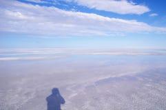 Mening in Great Salt Lake Stock Foto's