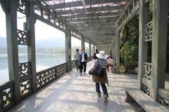 Mening in het Culturele Landschap van het het Westenmeer van Hangzhou stock foto