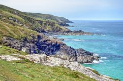 Mening langs northcoast van Cornwall royalty-vrije stock fotografie