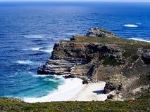 Mening naar Kaapstad van het Punt van de Kaap, Zuiden Afri stock afbeeldingen